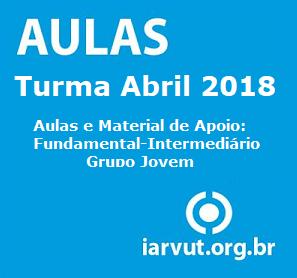 Aulas C.E Avançado - Grupo Jovem Turma Abril 2018