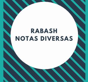 Rabash - Notas Diversas